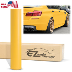 Matte Flat Yellow Vinyl Wrap
