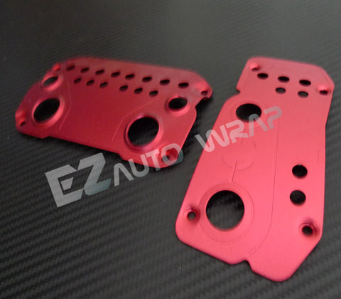 Aluminum Auto Pedal Set (Red)