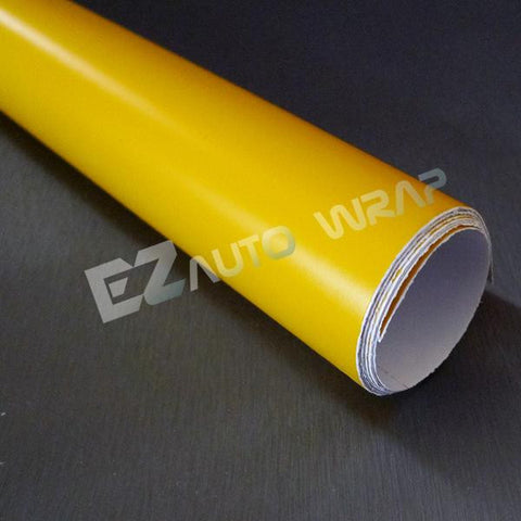 Matte Yellow Taillight Headlight Tint Film