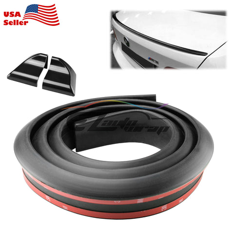 3D Black Rubber Rear Roof Trunk Spoiler Wing 5ft/60""