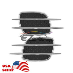 Universal Chrome Stripe Black Vent