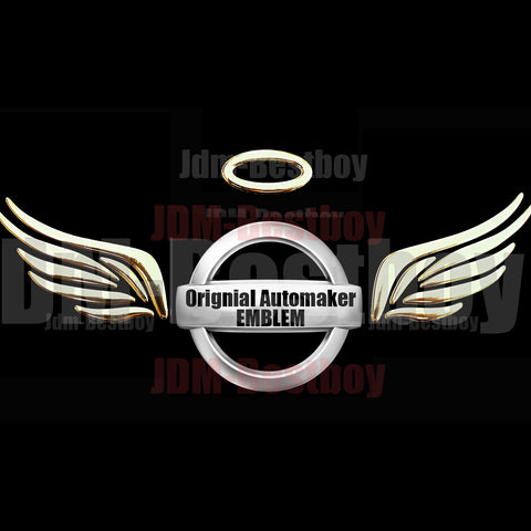 3D Angel Wings Decal Sticker Emblem (Gold)