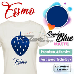 ESSMO™ Royal Blue Solid Matte DP23 Heat Transfer Vinyl HTV Sheet