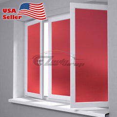 Frosted Red Glass Film