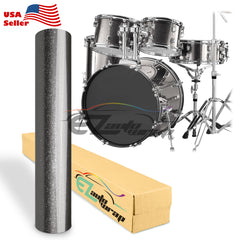 Gloss Glitter Gray Drum Wrap Vinyl Kit