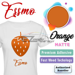 ESSMO™ Orange Solid Matte DP15 Heat Transfer Vinyl HTV Sheet