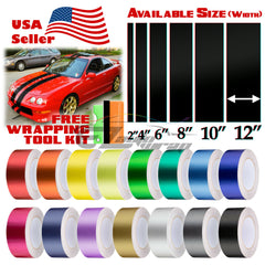 "Brushed Aluminum Racing Stripe 2"" 4"" 6"" 8"" 10"" 12"" / 50FT"