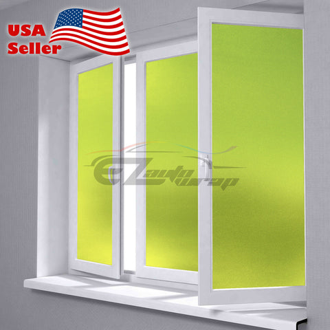 Frosted Neon Yellow Glass Film