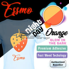 "Essmo™ Glow in the Dark Orange Heat Transfer Vinyl HTV 10"" Roll GD03"