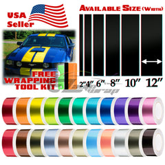 "Gloss Metallic Racing Stripe 8"" 10"" 12"" / 25FT"