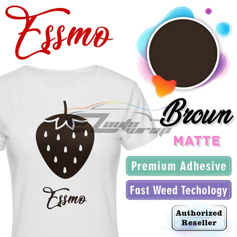 ESSMO™ Brown Solid Matte DP12 Heat Transfer Vinyl HTV Sheet