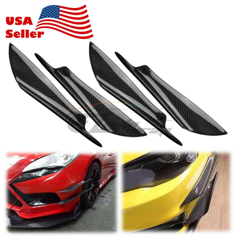 4Pcs Carbon Fiber Front Bumper Splitter PC-BLS06