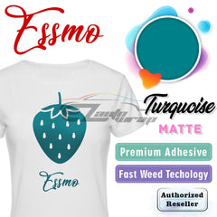 ESSMO™ Turquoise Solid Matte DP21 Heat Transfer Vinyl HTV Sheet