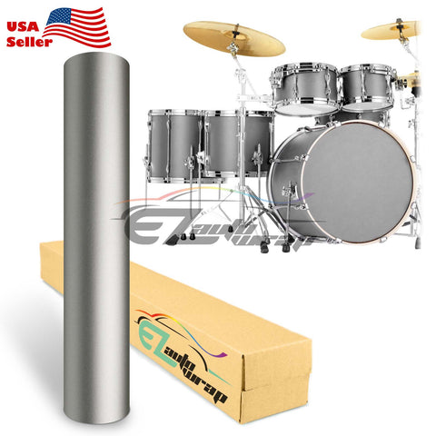 Matte Gray Drum Wrap Vinyl Kit