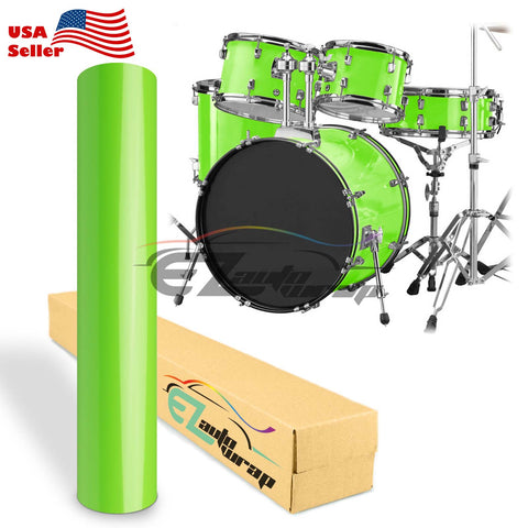 Gloss Green Drum Wrap Vinyl Kit