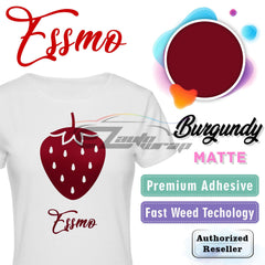 ESSMO™ Burgundy Solid Matte DP36 Heat Transfer Vinyl HTV Sheet