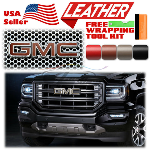 *Leather Texture GMC Emblem Overlay