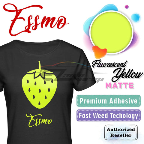ESSMO™ Fluorescent Yellow Solid Matte DP26 Heat Transfer Vinyl HTV