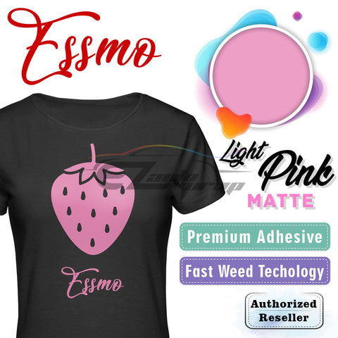 ESSMO™ Light Pink Solid Matte DP32 Heat Transfer Vinyl HTV