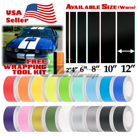 "Matte Racing Stripe 8"" 10"" 12"" / 25FT"