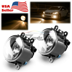 Pair Fog Light Lamp Clear Lens Upgrade Aftermarket OEM Replacement H11 Bulb F1