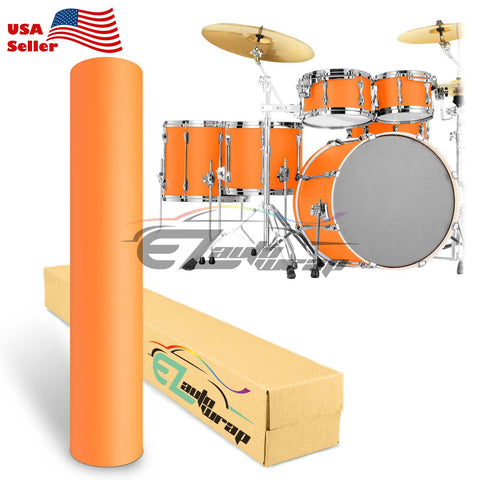 Matte Orange Drum Wrap Vinyl Kit