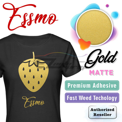 ESSMO™ Gold Solid Matte DP03 Heat Transfer Vinyl HTV