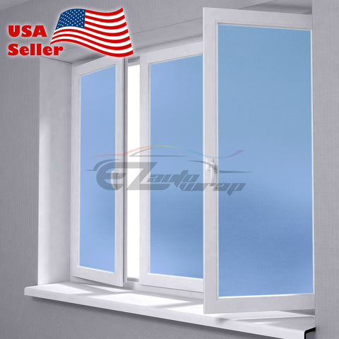 Frosted Light Blue Glass Film