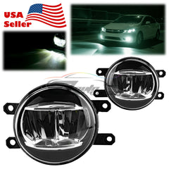 Pair 5000K LED Fog Light Lamp Clear Lens Replacement Upgrade For Lexus Toyota T2