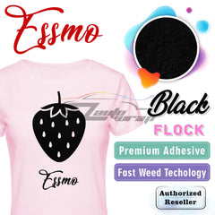 ESSMO™ Black Flock DF01 Heat Transfer Vinyl HTV Sheet