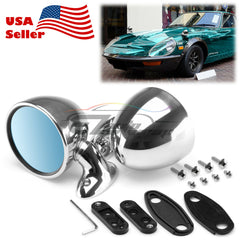 Universal Chrome Hotrod Muscle Car Vintage Side Mirror Set Both Driver Passenger PC-MI27