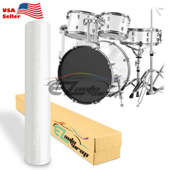 Gloss Glitter White Drum Wrap Vinyl Kit
