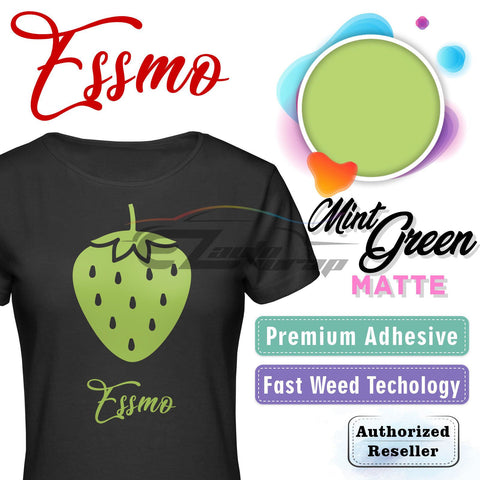 ESSMO™ Mint Green Solid Matte DP35 Heat Transfer Vinyl HTV