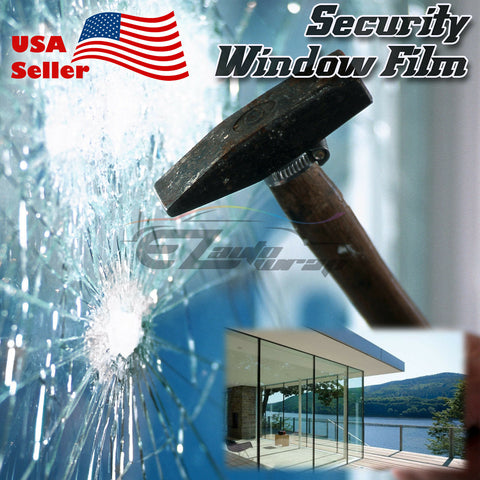Clear Security Window Film Shatterproof 4Mil 8Mil