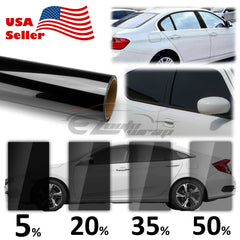 "39"" Uncut Charcoal Black Window Tint Film VLT 5% - 50%"