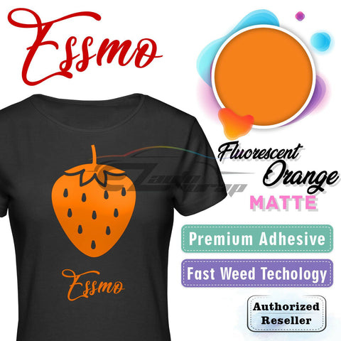 ESSMO™ Fluorescent Orange Solid Matte DP27 Heat Transfer Vinyl HTV