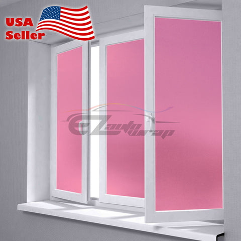 Frosted Pink Glass Film