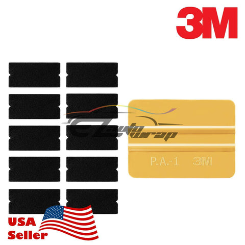3M Gold Squeegee Tips x10 Vinyl Wrap Kit