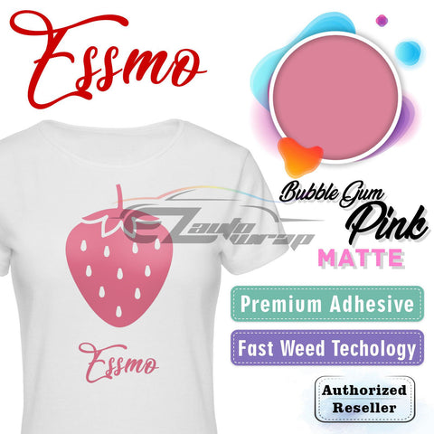 ESSMO™ Bubble Gum Pink Solid Matte DP09 Heat Transfer Vinyl HTV Sheet