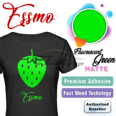 ESSMO™ Fluorescent Green Solid Matte DP29 Heat Transfer Vinyl HTV Sheet