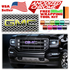 *Anodized Chrome GMC Emblem Overlay