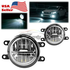 Pair 80W LED Fog Light Lamp Clear lens Replacement Upgrade For Lexus Toyota T5