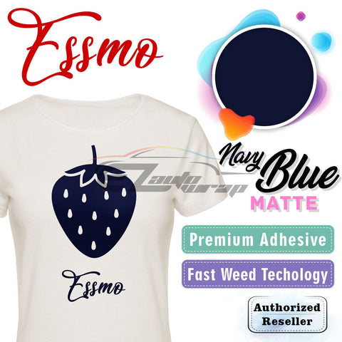 ESSMO™ Navy Blue Solid Matte DP24 Heat Transfer Vinyl HTV