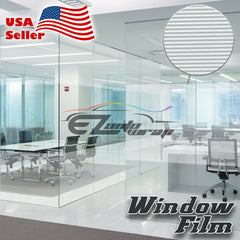 White Line Static Glass Film #43