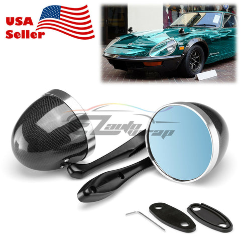 Universal Real Carbon Fiber Hotrod Muscle Car Vintage Side Mirror Both Side PC-MI28 CF