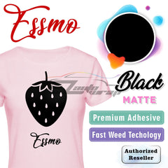 ESSMO™ Black Solid Matte DP01 Heat Transfer Vinyl HTV