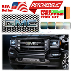 *Psychedelic Gloss GMC Emblem Overlay