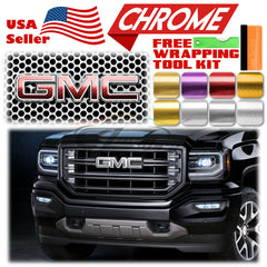 *Chrome Pattern GMC Emblem Overlay
