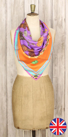 beautiful silk scarves inject a real splash of colour into summer outfits