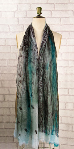 Veda Beautiful Birds Scarf - Knot Only - 1